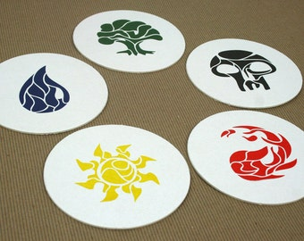 Magic Mana Letterpress Coasters - Set of 10