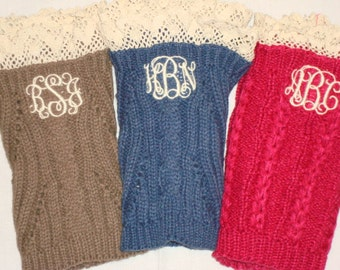 Peronalized Ladies Knit Boot Cuffs
