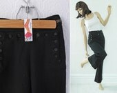 Reserved Item: U.S. Navy Button Uniform Pants, Navy Blue Wool, Military WWII Bell Bottoms, size 26 Men's or XS