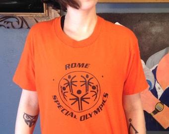 1980's Rome Special Olympics t-shirt, M-L