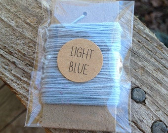 10 Yards - Solid  Baker's  Twine / String • 100% Cotton • Eco Friendly • Gift Wrap • Bakery String •  Light Blue