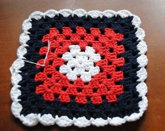 Red, White and Blue Patriotic Dish Cloth