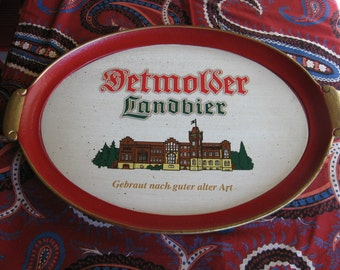 German Beer Tray Detmolder Lanbier