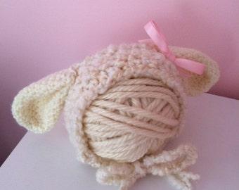 Sweet Little Lamb Bonnet