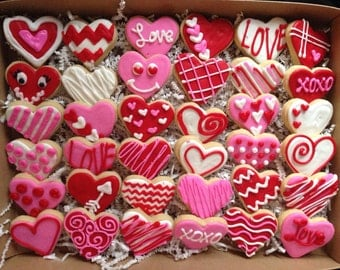 Valentines Day Heart Sugar Cookie Giftbox LARGE