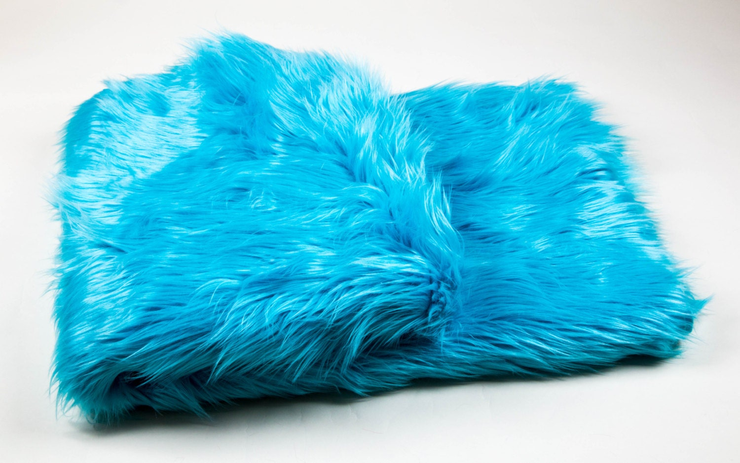 108 X 60 Aqua Faux Fur Shaggy Throw Blanket Bed