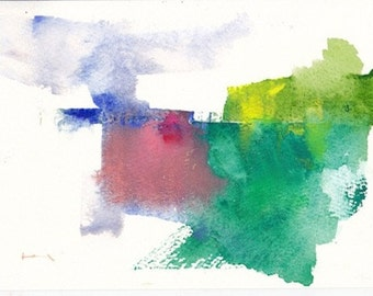 """First place ,original watercolor painting 7"""" x 5"""""""