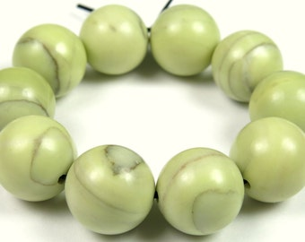 Fabulous Butter Jade Round Bead - 12mm - 10 Pieces - B1768
