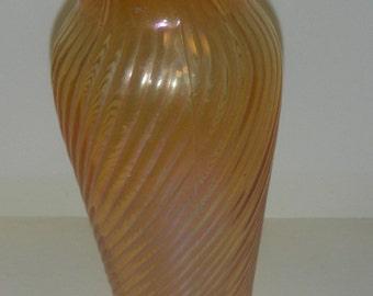 Carnival Glass Marigold.Vase.. Vintage