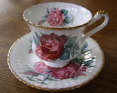 reserved yu Signed christian dior Paragon Fine Bone China Rose Cup and Saucer