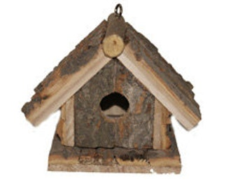 4 3/4 Inch Rustic Wood Birdhouse CLOSEOUT PRICE!