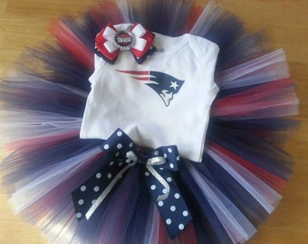 New England Patriots inspired tutu outfit