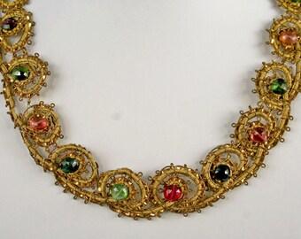 Mulitcolored Tourmaline Necklace   10902