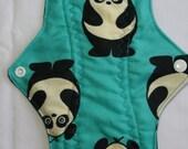 Kiki Mama Cloth Menstrual Pad Regular Size with Panda Bears