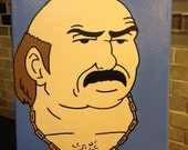 Special Order For Jason - Carl From Aqua Teen Hunger Force - Original Acrylic Painting - Head Shots By Artox - Hand Painted