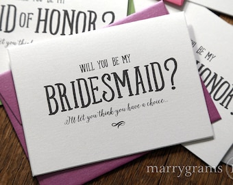 Funny Will You Be My Bridesmaid Cards