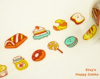 Japanese Washi Masking Tape - Dessert Drawing - 11 Yards
