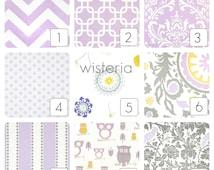 Lavender Purple Curtain Panels. Wisteria Window Drapes. 63, 84, 96, 108, 120 Lengths. Curtains. Purple, Gray, Yellow