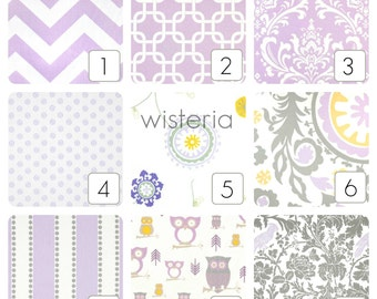 Lavender Purple Curtain Panels. Wisteria Window Drapes. 63, 84, 96, 108, 120 Lengths. Curtains. Purple, Gray, Yellow