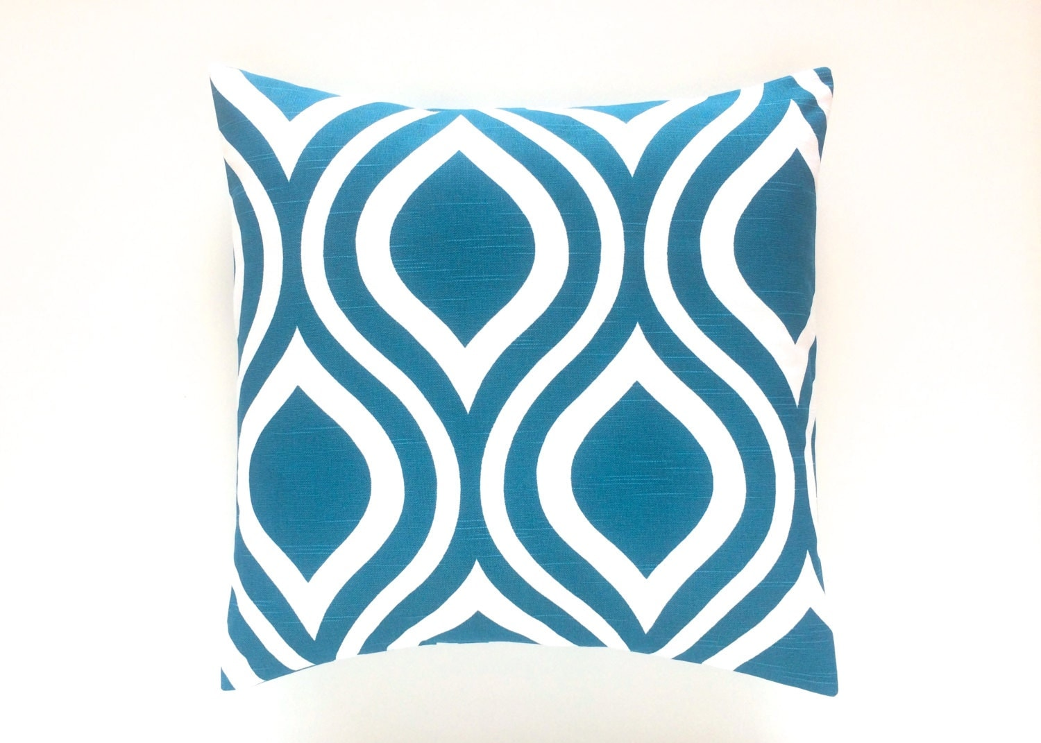 Decorative Pillows Outlet : CLEARANCE 50% Off Teal Throw Pillow Cover. 16 X 16 Inches