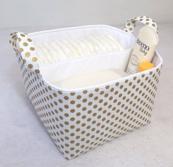 Items Similar To Metallic Gold Lg Diaper Caddy 10 Quot X10 Quot X7