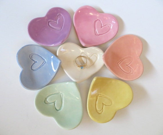 1 to 100 Party Favors,  ring holders, Pastel hearts,  baby shower gifts,  engagement or wedding shower,  Made to Order