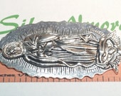 1 pc per pack 81x39mm Extra Large size Lady Guadalupe Pendant in Antique Silver lead free Pewter.