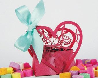 Double Heart Favor Box