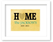 Personalized Couples Art Print, Wedding gift, custom name and date, home wall decor