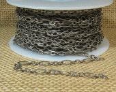 Petit gravé chaîne ovale - argent Antique - CH127