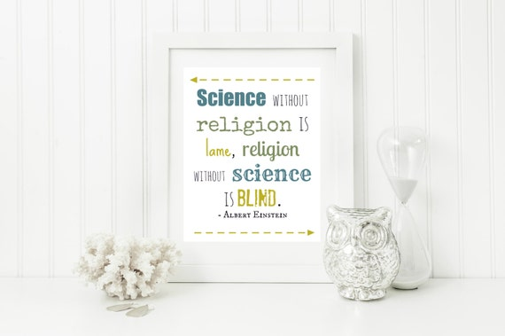 "Instant ""Albert Einstein Quote"" Wall Art Print 11x14 Printable File Science Room Decor"