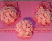 Barefootin Sandal and Headband Set Pale Pink Felt Pom Flowers