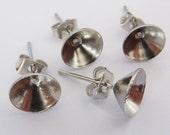 10 earstud settings, Ø8mm SS39, stainless steel