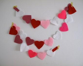 Confetti Garland // Big Love Heart Felt Party Bunting // 2 meters
