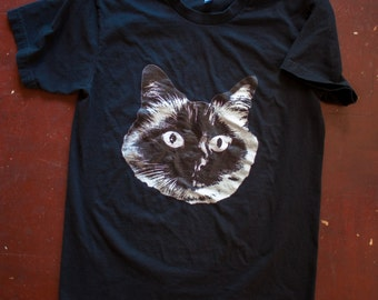 Esther The Cat tshirt in Black