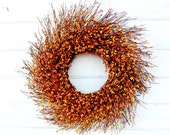 FALL WREATH-Autumn Decor-Thanksgiving Wreath-Rustic TWIG Door Wreath-Fall Home Decor-Rustic Wreaths-Custom Made Gifts-Housewarming Wreath