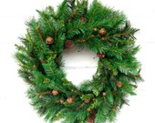 SCENTED Christmas Wreath-Scented PINE-Winter Door Wreath-Holiday Door Wreath-Primitive Christmas Wreath-Holiday Home Decor-Custom Made USA