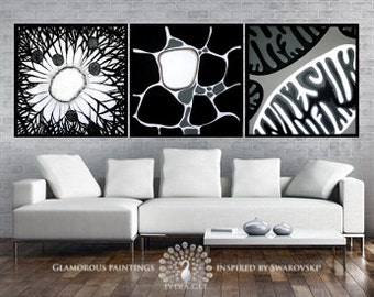 wall decor with swarovski crystals large wall decor art wall decoration guest - Large Wall Decor For Living Room
