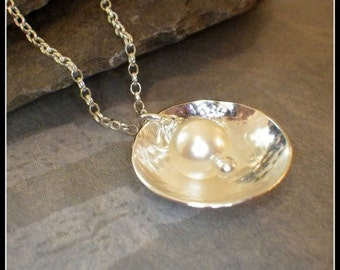 Oyster Pearl Sterling Silver Necklace