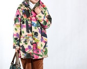 fall Hooded large size cotton loose fitting jacket