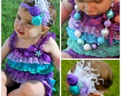 Little Mermaid Birthday Outfit - Under the Sea Birthday Outfit - Purple Birthday Outfit