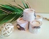 30 Birch Tree branch candles - Rustic wedding - Wood tree branch candles - Birch tree logs - Holiday candles