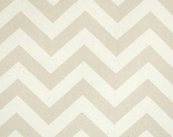 "25"" Khaki and Natural Chevron Zig Zag Curtains Drapery Panels  63 72 84 90 96 108 120"