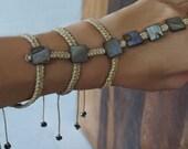 Shell, Macrame Slave Bracelet, Boho Hand Jewelry, Gladiator Style Bracelet, Body Jewelry, 1 Piece