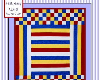 EASY Baby Boy Quilt Pattern