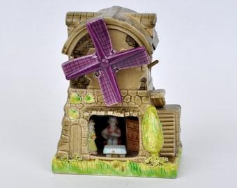 Ceramic Vintage Windmill Music Box