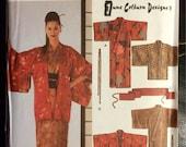 Kimono, Haori, Obi Sash and Tie Uncut Pattern