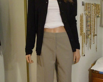 Taupe or Dark Tan Stretch Gabardine Pants