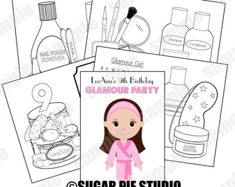 spa party coloring pages - photo#16