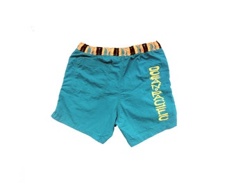 Rad 90s Neon Tribal Trim Ocean Pacific Swim Trunks - 32 to 34